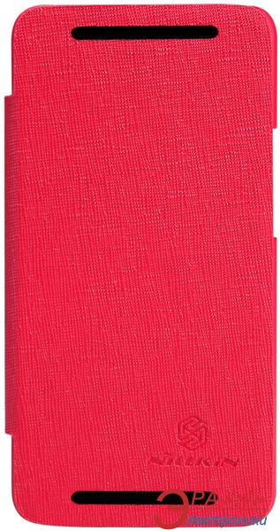 Чехол Nillkin HTC ONE (M7) - Crossed Style Leather Case (Red) (6065816)