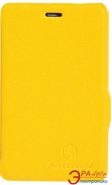 Чехол Nillkin Nokia Asha 501 - Fresh Series Leather Case (Yellow) (6076877)