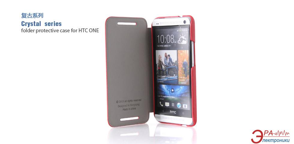 Чехол Hoco HTC ONE - Crystal series (HT-L007 Red)