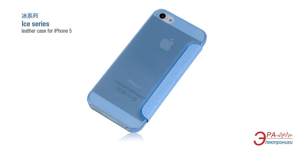 Чехол Hoco iPhone 5 Ice series Leather (HI-L035BL)