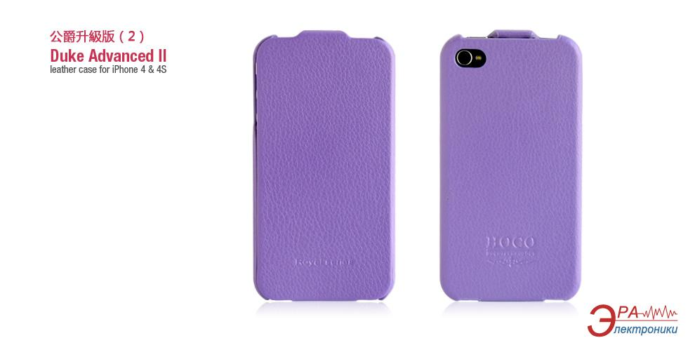 Чехол Hoco iPhone 4/4S Duke Flip Leather case Rose Red (HI-L001PU)