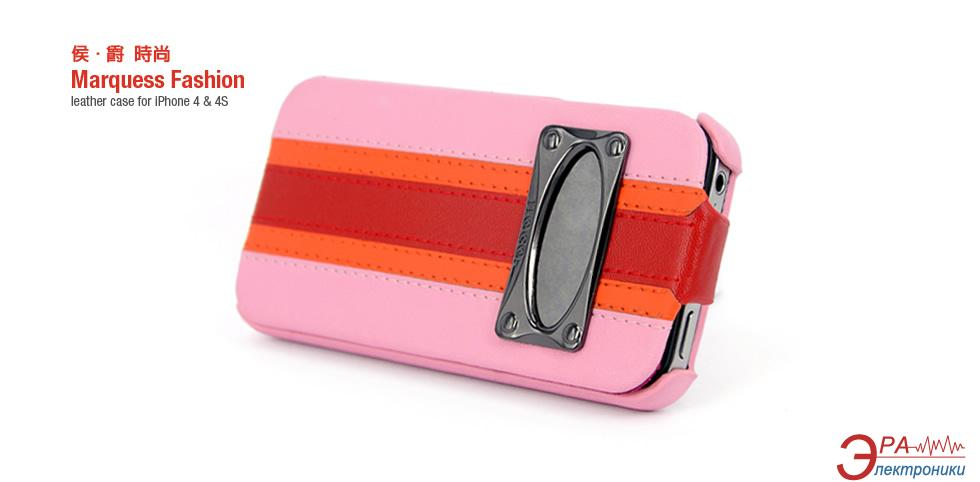 Чехол Hoco iPhone 4/4S Marquess Fashion Flip Leather case combi-Pink (HI-L002P)