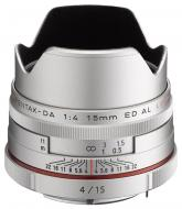 Объектив Pentax DA 15mm f/4 AL Limited Silver (21480)