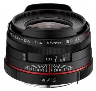 Объектив Pentax DA 15mm f/4 AL Limited Black (21470)
