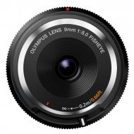 Объектив Olympus BCL-0980 Fish-Eye Body Cap Lens 9mm 1:8.0 Black (V325040BW000)