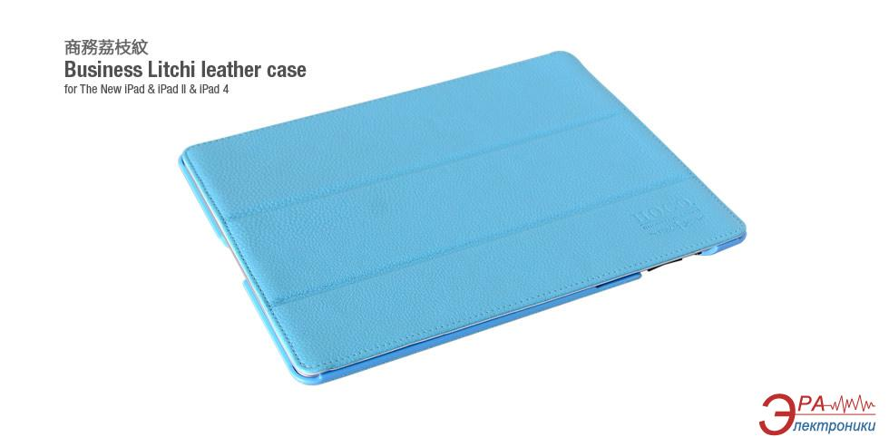 Чехол-подставка HOCO iPad 2/3/4 Business Litchi Leather case Blue (HA-L010BL)