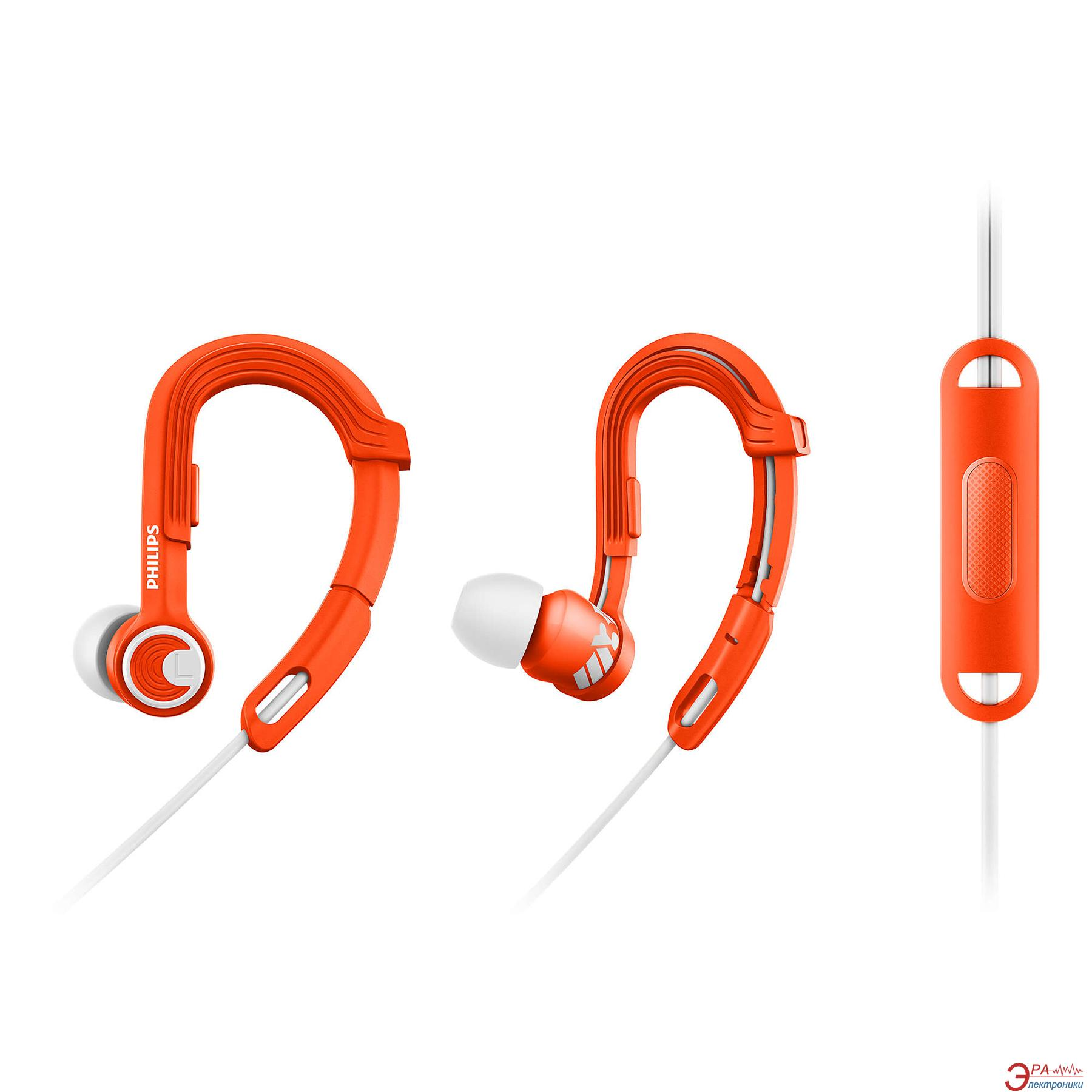 Гарнитура Philips ActionFit Sports  Orange/White (SHQ3305OR/00)