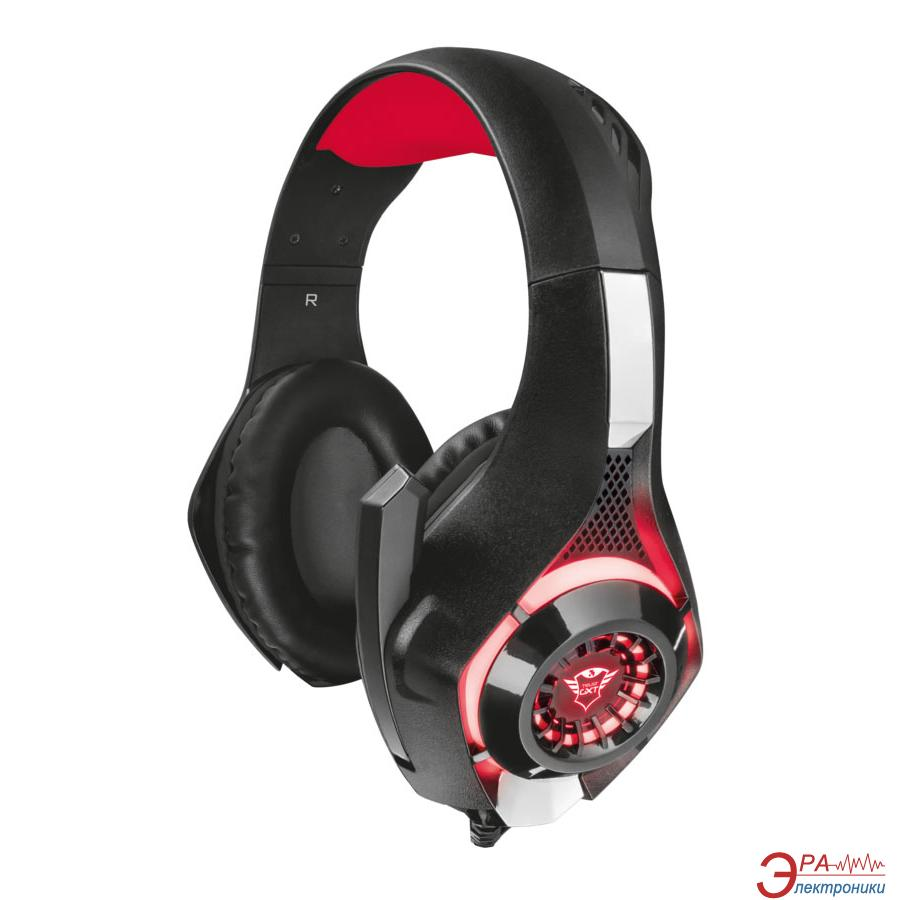 Гарнитура Trust GXT 313 Nero Illuminated Gaming Headset (21601)