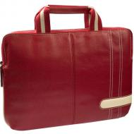 Сумка для ноутбука Krusell Gaia Laptop Slim Case, red+cream (71165)