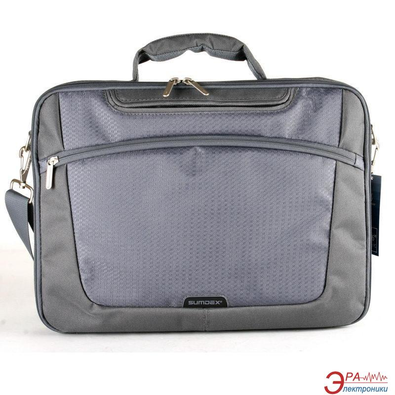 Сумка для ноутбука Sumdex Single Compartment Computer Brief Grey (PON-301GP)