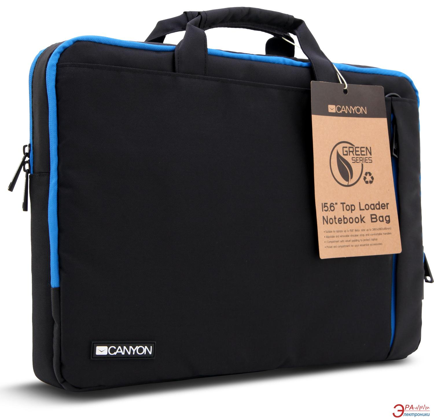 Сумка для ноутбука Canyon Top Loader Notebook Black/Blue (CNF-NB01BL)