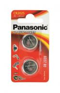 Батарейка Panasonic CR 2025 BLI 2 LITHIUM (CR-2025EL/2B)