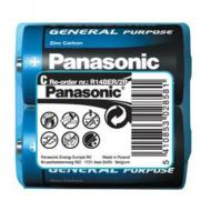 Батарейка Panasonic GENERAL PURPOSE R14 TRAY 2 ZINK-CARBON (R14BER/2P)