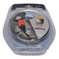 Кабель HDMI Atcom 3m Red/Gold connector Blister (14944)