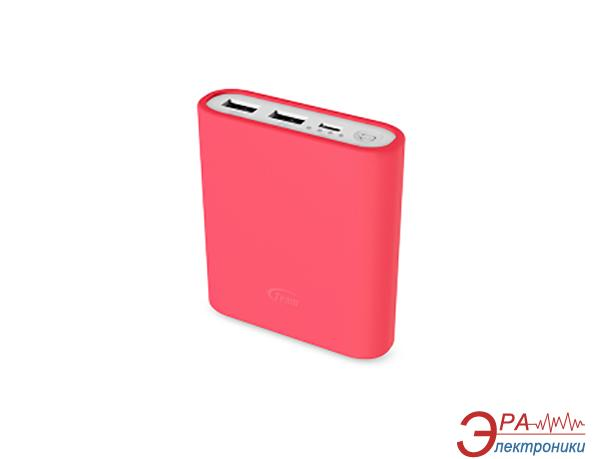 Внешний аккумулятор (PowerBank) Team Power Bank 10400mAh Pink  + 3 color silicone case (TWP0814K01)