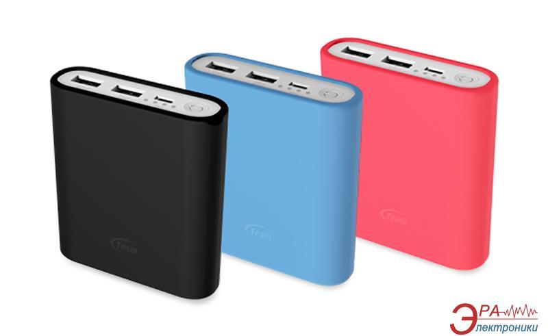 Внешний аккумулятор (PowerBank) Team Power Bank 10400mAh Black + 3 color silicone case (TWP0814B01)