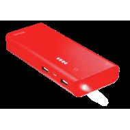 Внешний аккумулятор (PowerBank) Trust Primo 10000 mAh BLACK, Red (22752)