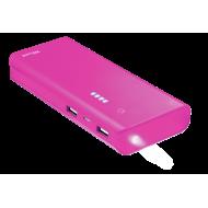 Внешний аккумулятор (PowerBank) Trust Primo 10000 mAh BLACK, Pink (22749)