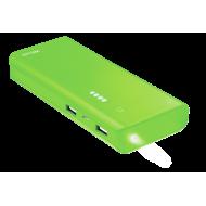Внешний аккумулятор (PowerBank) Trust Primo 10000 mAh BLACK, Green (22748)