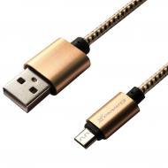 Кабель Grand-X USB - micro USB 1m Yellow-Black/Gold (FM01YBG)