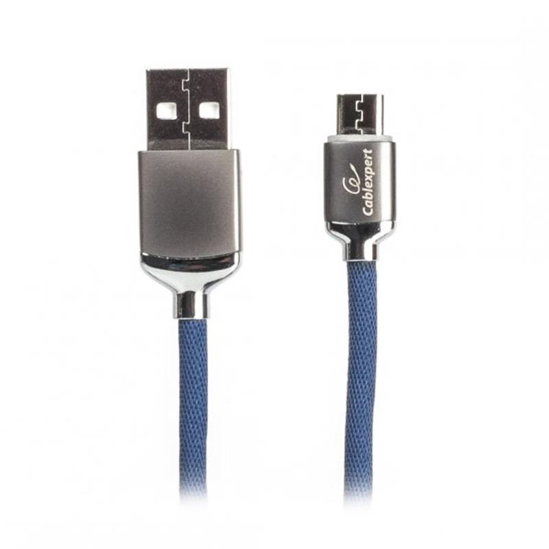 Кабель Cablexpert USB 2.0 A - microUSB B, 1m Blue (CCPB-M-USB-07B)
