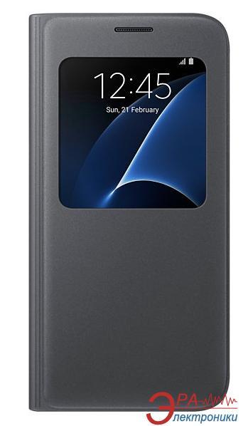 Чехол Samsung S7 - S View Cover (EF-CG930PBEGRU)