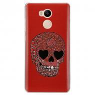 Чехол Utty Xiaomi Redmi 4 Pro - 3DPattern Ultra Thin Red/Black/sh7409 (263495)