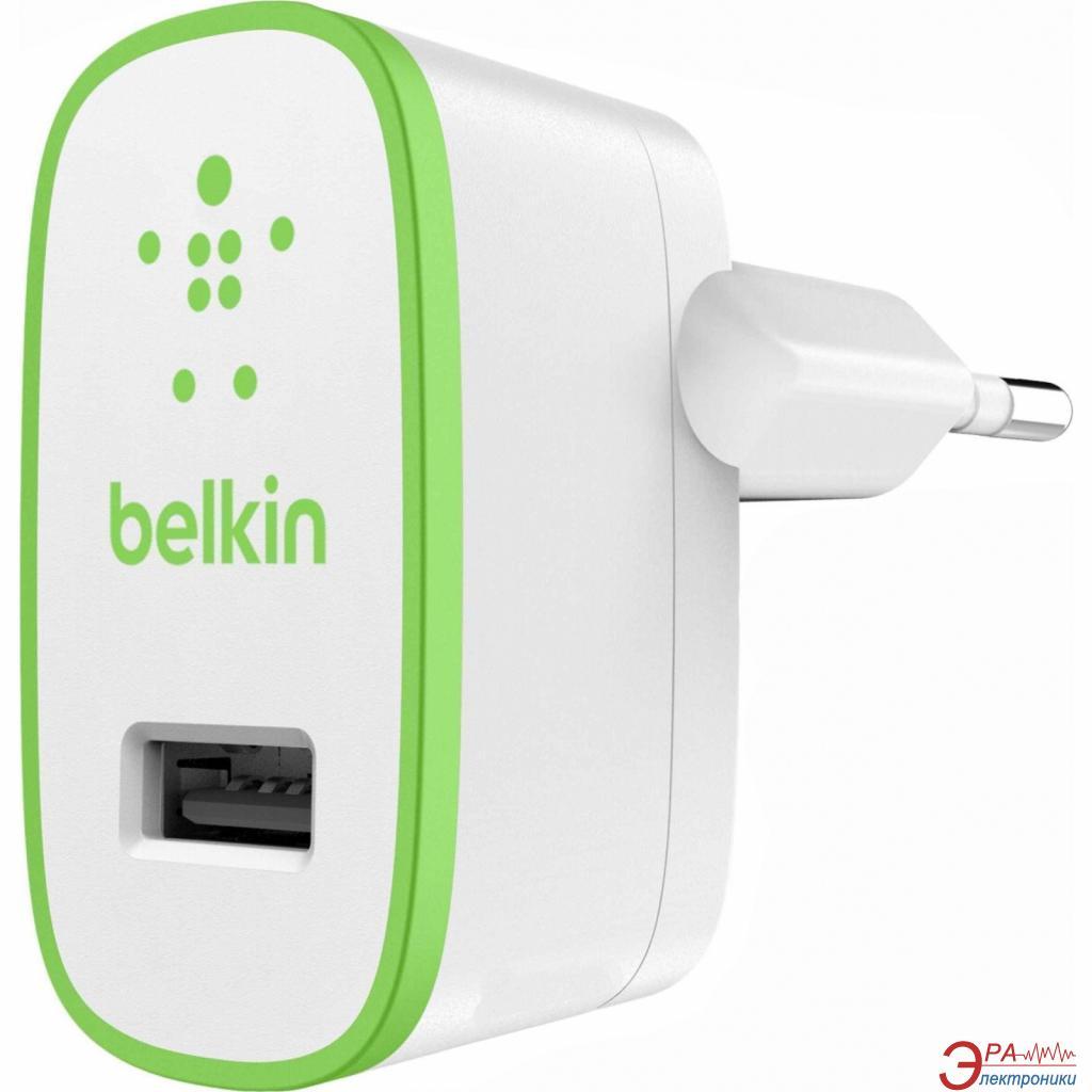 Сетевое зарядное устройство Belkin USB HomeCharger (USB 2.4A) (F8J040vfWHT)