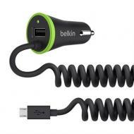 Автомобильное зарядное устройство Belkin BOOST UP (Micro USB Cable + USB) 3.4A (F8M890bt04-BLK)