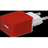 Сетевое зарядное устройство Trust URBAN REVOLT SMART WALL CHARGER Red (20145)