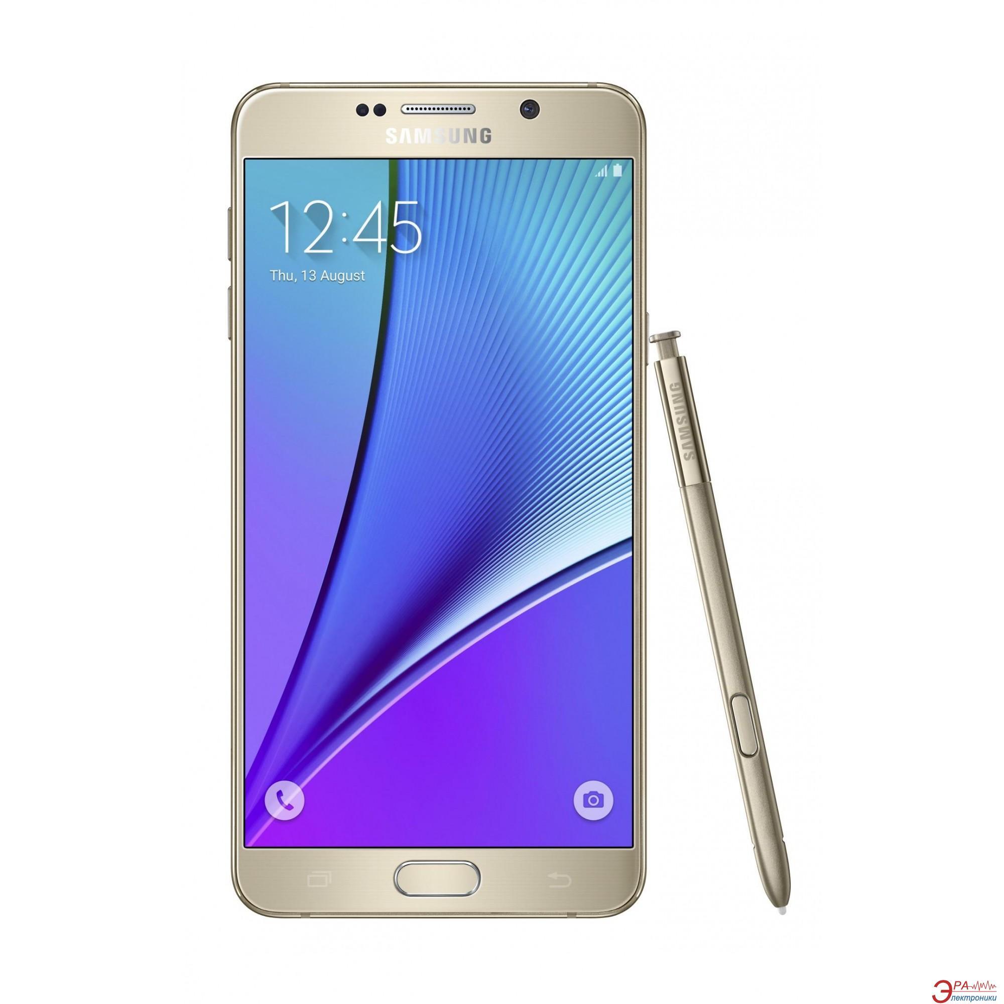 Смартфон Samsung Galaxy Note 5 SS 32Gb Gold (SM-N920CZDASEK)