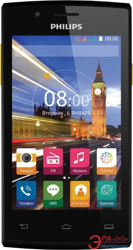Смартфон Philips S307 Dual Sim Black-Yellow (8712581736125)