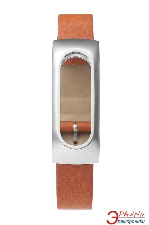 Ремешок для фитнес браслета Xiaomi Mi Band Leather Brown ORIGINAL