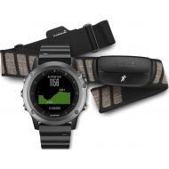 Смарт часы Garmin Fenix 3 Sapphire, Silver with Leather Band, Performer Bundle (010-01338-26)