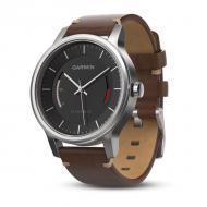 Смарт часы Garmin Vivomove Premium, Stainless Steel with Leather Band (010-01597-20)