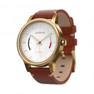 Смарт часы Garmin Garmin Vivomove Premium, Gold-Tone Steel with Leather Band (010-01597-21)