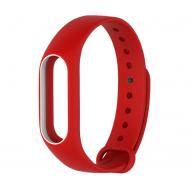 Ремешок для фитнес браслета Xiaomi Mi Band 2 Red/White (XMB2-RD/WH)