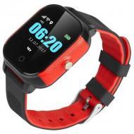 Смарт-часы детские GoGPS ME К23 Черный с красным (K23BKRD)