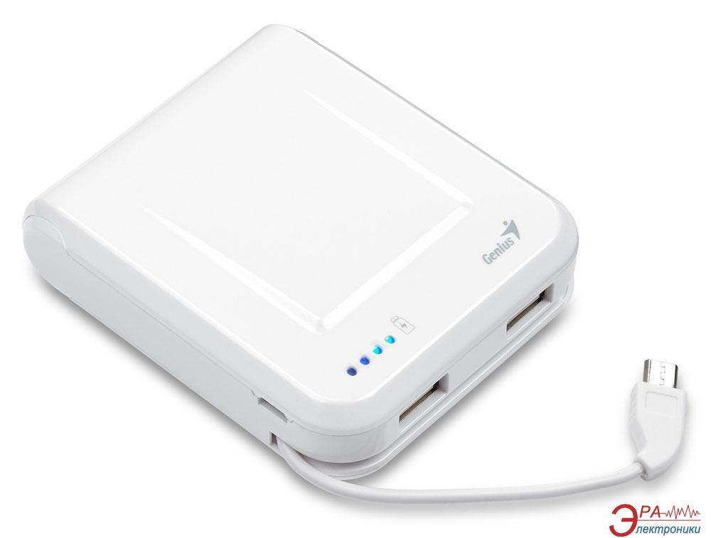 Внешний аккумулятор (PowerBank) Genius ECO-u700 7800 mAh White (39800002102)