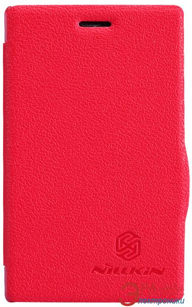 Чехол Nillkin Nokia Asha 502 - Fresh Series Leather Case (Red) (6120393)