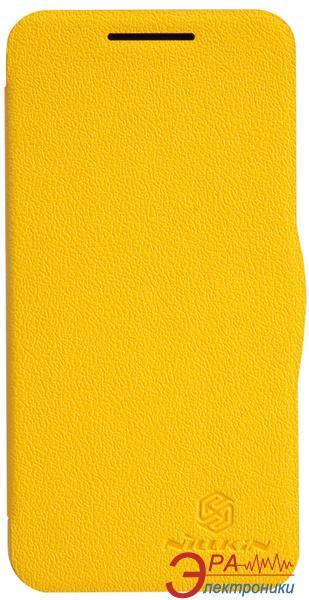 Чехол Nillkin HTC Desire 300 - Fresh Series Leather Case (Yellow) (6120401)