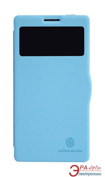 Чехол Nillkin Lenovo K910 - Fresh Series Leather Case (Blue) (6120378)