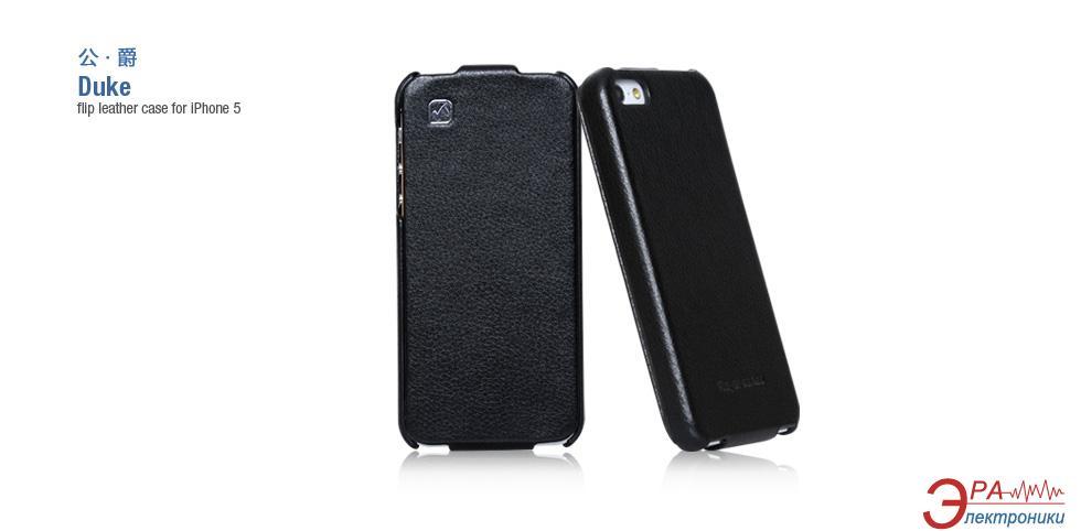 Чехол Hoco iPhone 5/5S - Duke Folder case Black HI-L045