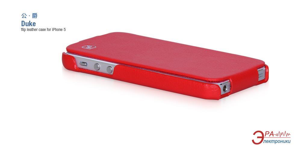 Чехол Hoco iPhone 5/5S - Duke Folder case Red HI-L045