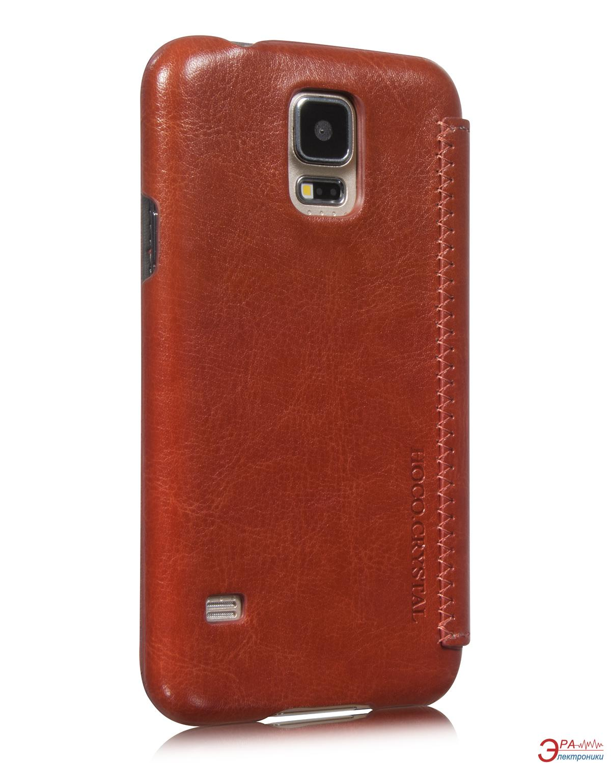 Чехол Hoco Samsung Galaxy S5 Crystal Leather case Brown (HS-L078BR)