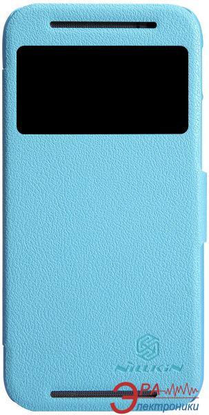 Чехол Nillkin HTC ONE (M8) - Fresh Series Leather Case (Blue) (6138237)