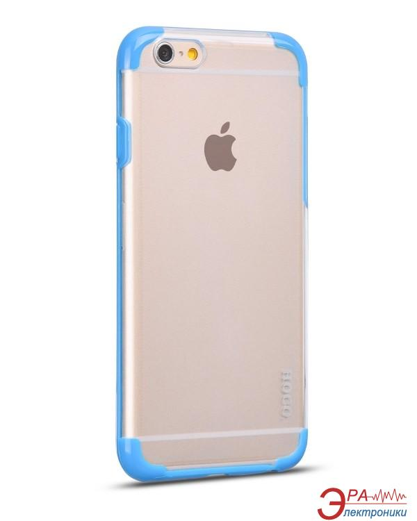 Чехол Hoco for iPhone 6 Double-Color PC+TPU case Blue (HI-T034BL)