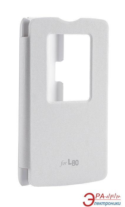 Чехол VOIA LG Optimus L80 Dual (D380) - Flip Case White