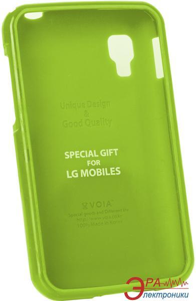 Чехол VOIA LG Optimus L4II Dual - Jelly Case (Lime)
