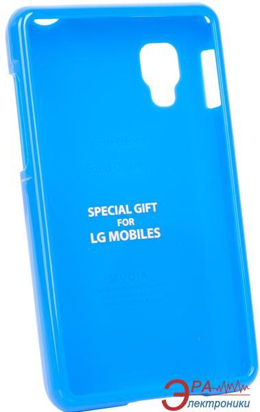 Чехол VOIA LG Optimus L4II Dual - Jelly Case (Blue)